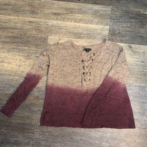 Gray\Purple Ombré sweater